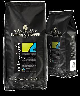 Imping Kaffee Cafe Giusto gemahlen