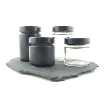 Glas schwarz mit Deckel TO 58